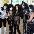 Cher Impersonator Bonnie Kilroe in Vegas with members of the band, Kiss