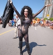 Cher Impersonator Bonnie Kilroe at Vancouver's Pride parade in August 2103!
