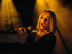 Bonnie Kilroe performs as Barbra Streisand
