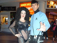 Bonnie Kilroe as Cher in Las Vegas with Spock