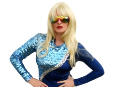 Bonnie Kilroe as pop music icon Lady Gaga - Celebrity Imposters Impersonator